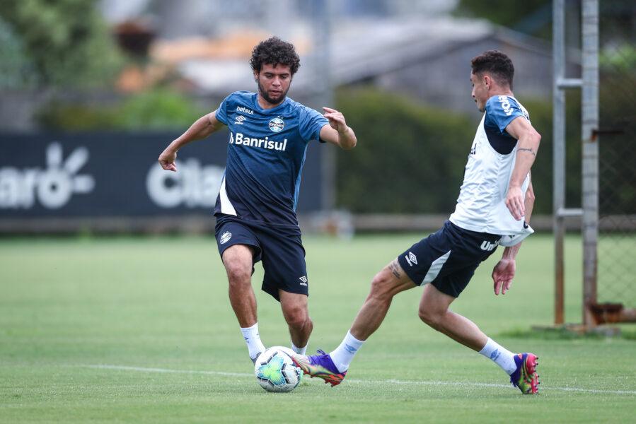 Grêmio segue sua preparação para o confronto direto com o Palmeiras pelo Brasileirão