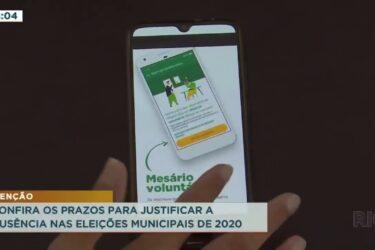 Confira os prazos para justificar a ausência nas eleições municipais de 2020