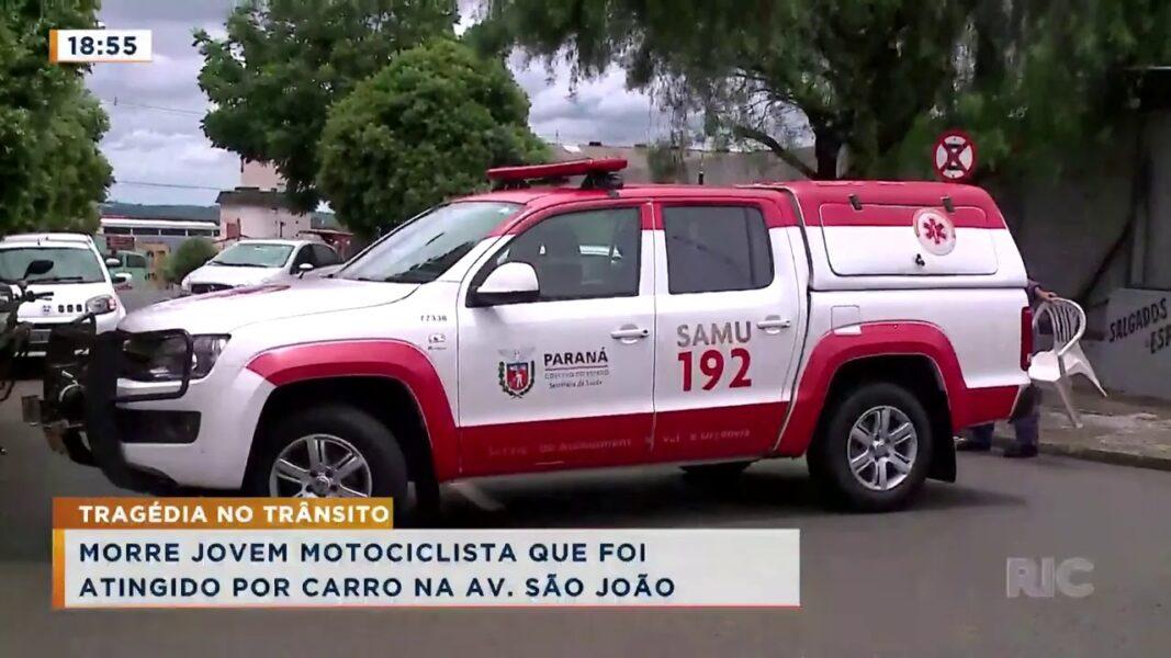 Morre jovem motociclista que foi atingido por carro na Av. São João