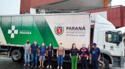 Insumos para vacinação no Paraná já foram distribuídos em 20 das 22 regionais de sáude