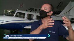 Sanepar usa avião para 'fazer chover' na grande Curitiba