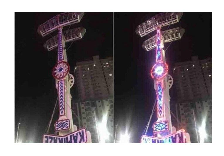 Brinquedo em parque de diversões trava e deixa pessoas presas a 18 metros de altura