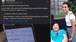 Ladrões devolvem carro roubado de mulher com esclerose múltipla e pedem desculpa