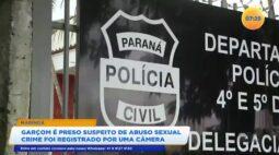 Garçom é preso suspeito de abuso sexual o crime foi registrado por uma câmera