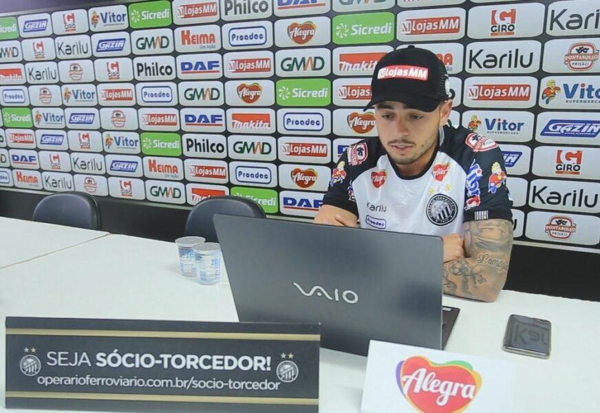 Lucas Batatinha rescinde o contrato com o Operário