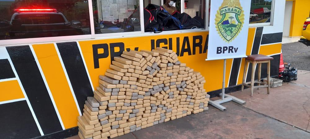 Polícia apreende mais de 300 Kg de maconha em Iguaraçu