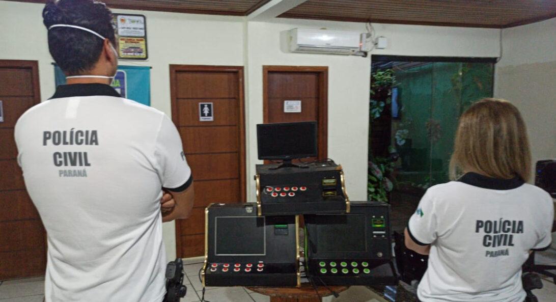 Polícia Civil apreende máquinas caça-níqueis em Pontal do Paraná