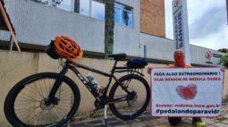 Conheça o policial que vai pedalar 1000 kms em campanha pela doação de medula óssea