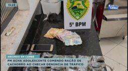 Polícia acha adolescente comendo ração de cachorro ao checar uma denúncia de tráfico em Cambé