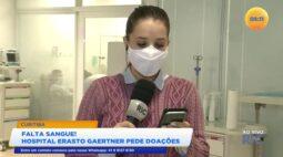 Falta sangue! Hospital Erasto Gaertner pede doações