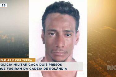 Policia militar caça dois presos que fugiram da cadeia de Rolândia
