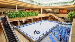 Jockey Plaza Shopping recebe a maior pista de patinação no gelo de Curitiba