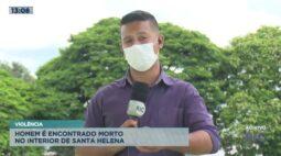 Homem é encontrado morto no interior de Santa Helena