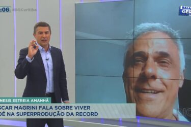 Ator Oscar Magrini fala sobre a experiência de viver Noé na superprodução da Record