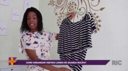 Como organizar o vestido longo no guarda roupa?
