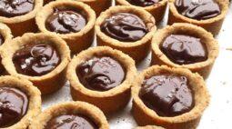 Tartelete de amêndoa com chocolate