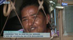Londrina tem 38 mortes na semana e 93% de ocupação em UTI exclusivas