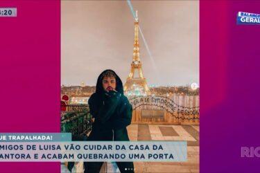 Amigos de Luísa Sonza vão cuidar da casa da cantora e acabam quebrando uma porta