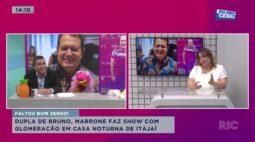 Marrone faz show com aglomeração em casa noturna de Itajaí