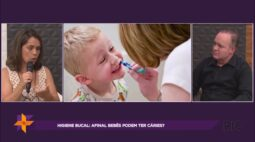 Higiene bucal infantil é possível bebês terem cáries