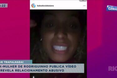 Ex-mulher de Rodriguinho publica vídeo e revela relacionamento abusivo