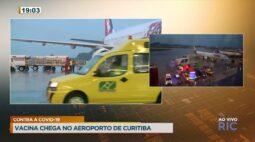 Vacina contra a COVID-19 chega no aeroporto de Curitiba