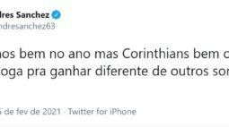 "Andrés cutuca o Inter: ""Corinthians sempre joga para ganhar"""