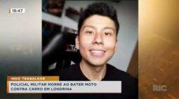 Policial militar morre ao bater moto contra carro em Londrina