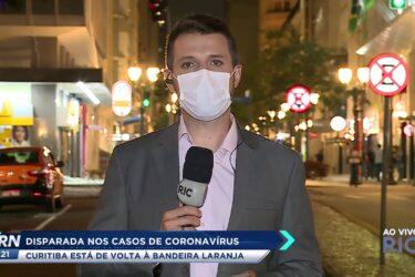 Disparada nos casos de coronavírus: Curitiba está de volta à bandeira laranja