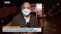 Filho matou o pai com 11 facadas depois de uma discussão dentro de casa
