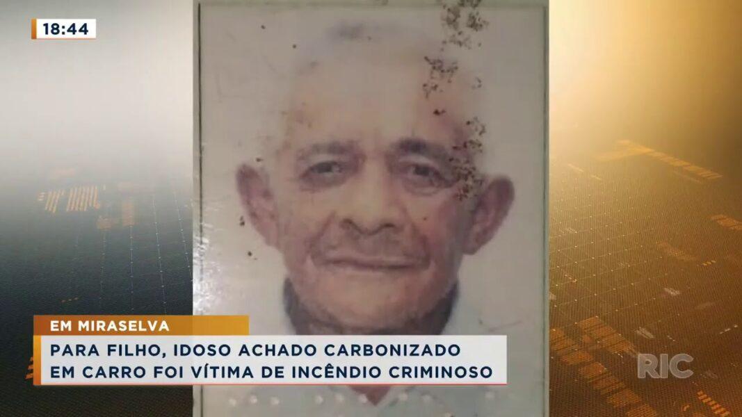 Corpo de idoso é encontrado carbonizado dentro de carro; filho acredita que incêndio seja criminoso