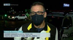 Homem é assassinado a tiros em posto de combustível em Rolândia