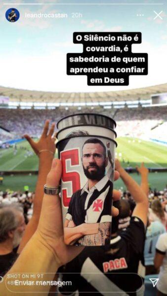 Leandro Castán faz postagem e explica silêncio no Vasco