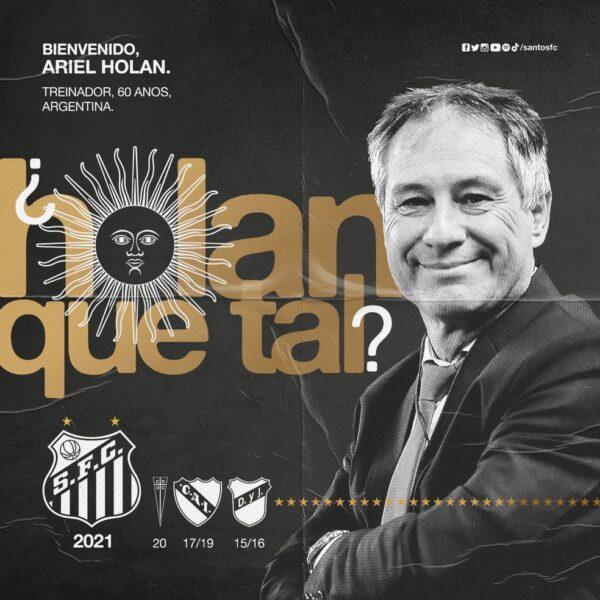 Santos anuncia contratação de Ariel Holan para substituir Cuca