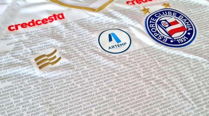 Bahia anuncia ação especial em uniforme para jogo contra Santos