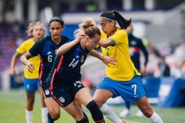 Meninas da Seleção Brasileira perdem para os Estados Unidos no torneio She Believes