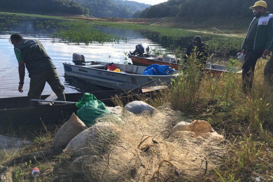 Fiscalização notifica vários pescadores por pesca predatória no Capivari Cachoeira