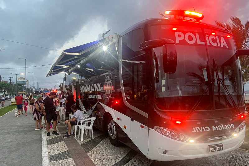 Delegacia Móvel da PCPR atenderá em Matinhos até o próximo domingo