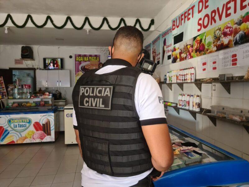 Inusitado: polícia descobre que sorveteria no Litoral era ponto de tráfico de drogas