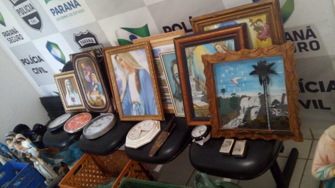 Imagens e quadros religiosos furtados de igrejas são recuperados pela polícia