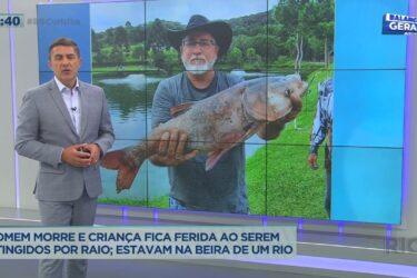 Homem morre e criança fica ferida ao serem atingidos por raio; os dois pescavam na beira de um rio