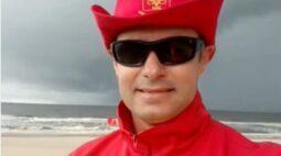 Veja vídeo postado por bombeiro, horas antes de ser atingido por raio no litoral