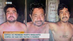 Esposa do pedreiro morto enquanto dormia, diz que não matou o marido
