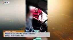 Médico e capitão do exército briga no trânsito; vídeo