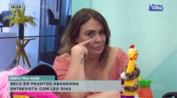 Belo em prantos abandona entrevista com Leo Dias