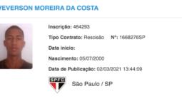 Contrato de Vitinho com o Bragantino é publicado no BID, e Weverson ainda espera