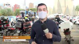 Motoristas e motociclistas protestam contra o aumento no preço dos combustíveis