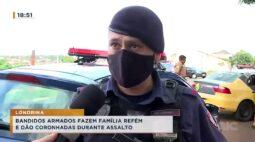 Bandidos armados fazem família de refém e dão coronhadas durante assalto