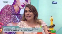 Andressa Suita surpreende ao mostrar casa de Gusttavo Lima nas redes
