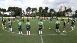 De olho no Derby, Palmeiras realiza treino tático na Academia de Futebol